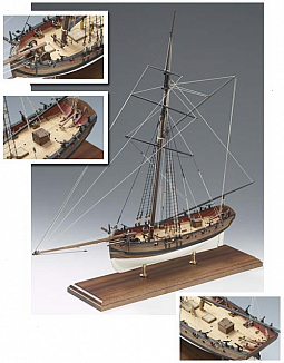 Euromodels Lady Nelson - Cutter - XVIII Century 1:64 Scale